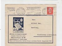 Germany 1932 Munchen Cancel Machine Slogan Stamps Cover ref R 19290