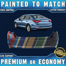 NEW Painted To Match - Rear Bumper Cover for 2015-2017 Hyundai Sonata 15-17
