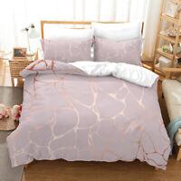 3D Marble Texture Quilt Cover Set Pillowcases Duvet Cover 3pcs Bedding