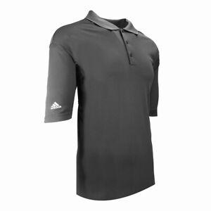 adidas Men's ClimaLite Short Sleeve Polo Lead/Black 4XL