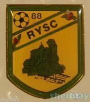 VTG Soccer Ball Sports TRAIN RY SC SOCCER 1988 80's Hat Pin Badge Pinback