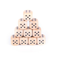 10x wood dice 12mm kid toys game 6 sided dice number or point New!