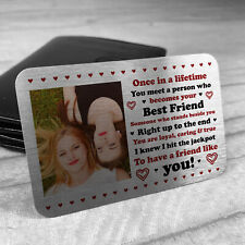 Personalised Metal Photo Gift For Best Friend Novelty Friendship Birthday Gifts