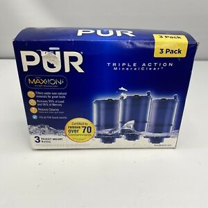Pur MaxIon Mineral Clear 3 Replacement Faucet Filters 99% Lead Max Ion NIB