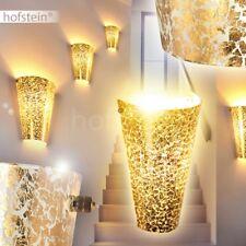 edle Wand Leuchten goldfarben Design Up Down Wohn Schlaf Raum Flur Dielen Lampen