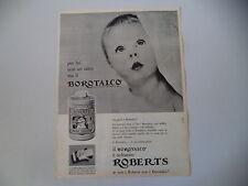 advertising Pubblicità 1961 BOROTALCO ROBERTS