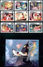 Dominica 679-688 Walt Disney characters Christmas 1980. x8008