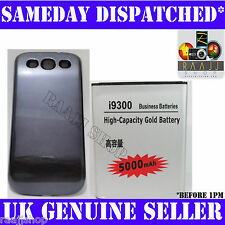 EXTENDED 5000mAh GOLD BATTERY FOR SAMSUNG GALAXY S 3 S3 i9300 WITH BLUE COVER