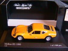 MELKUS RS 1000 1972 YELLOW MINICHAMPS 430010122 1/43 GELB JAUNE GALLIO LIMITED