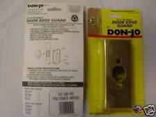 "Don Jo 20-FE door edge protector / reinforcer -brass finish for 1 3/4"" doors"
