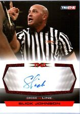 TNA Slick Johnson 2008 Cross The Line RED Authentic Autograph Card SN 19 of 25