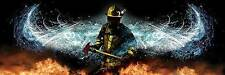 BAPTIZING HELL JASON BULLARD PRINT firefighter fireman gifts angel wings poster