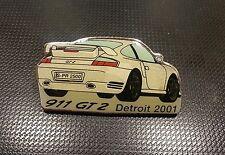 Porsche Pin 911 GT2 Detroit 2001 - Maße 43x23mm