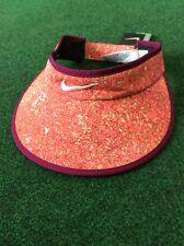 2cf3a77fbad Nike Big Bill Ladies Golf Visor Pink Pattern Purple Trim