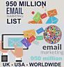 950 Million Database Email Marketing List (2019 new active) Free Sending Method