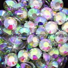 1000 X Top Quality Resin Flat Back Rhinestones Diamante Gems for Nail Art Crafts Crystal AB 4mm
