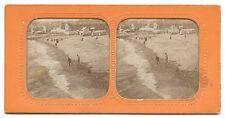 ALBUMEN STEREO Photo panoptique, Bord de Mer, c.1880 - Hold to light STEREOVIEW