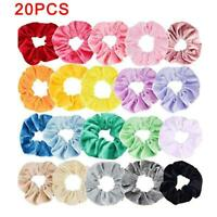 20pcs Hair Scrunchies Velvet Scrunchy Fabric Multicolored Srunchies Colorful