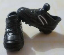 BARBIE DOLL SHOES 1998 SOCCER TERESA FIFA BLACK CLEATS ATHLETIC SPORTS HTF