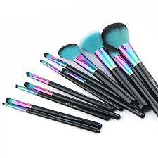 Espectro anmor Verde Set Completo Nuevo Maquillaje Cepillos 12 un. Set Arco Iris Regalo De Navidad