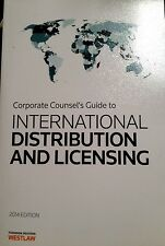 Corporate Counsel's Guide to International Distribution and Licensing 2014..New!