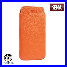 SENA Ultraslim thin leather handcrafted Case/Pouch, iPhone 6/6s, 7 and 8 Orange