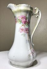"Antique La Francaise Porcelain Elegant Gold Rose Floral Chocolate Pot 10.5"" Tall"