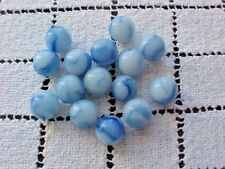 Marbles Light Blue With Swirl Total of 15 Vintage