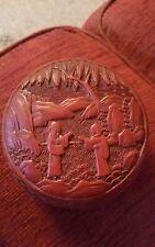 FINE fin 18TH début 19TH siècle chinese Cinnabar Box