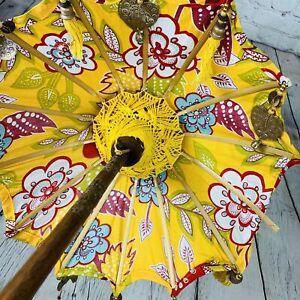 Bali Umbrella Fabric Parasol Indonesia Decorative Balinese Boho Choice 52 in