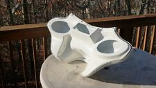 Harley Davidson Road King fairing fiberglass batwing 6x9 speakers white gel coat
