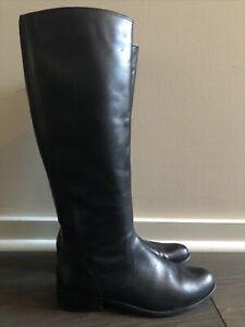 Corso Como Black Leather Knee High Riding Boots EUC 7.5