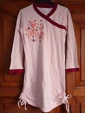 PLUMTING Robe tunique 10 ans japonisant fronces côté rose