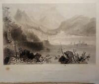 Incisione su acciaio di Salerno di W. H. Capone 1850 ca. (P372)