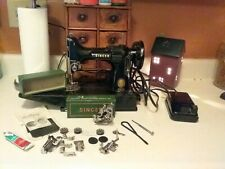 New ListingVintage Singer Featherweight 221 Sewing Machine With Extras