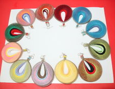 Wholesale 12 pairs handmade of Round Peruvian Thread earring Assorted colors 222