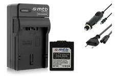 Ladegerät (Black) + Akku CGA-S006 für Panasonic Lumix DMC-FZ30, FZ35, FZ38, FZ50