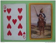 carte à jouer ancienne de collection (USA1940) : dragon à cheval