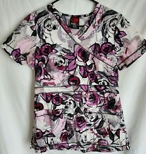 New listing Ecko red Women's small scrub top floral print