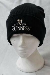 Guinness Logo mens black knitted Ski beanie hat Christmas stocking filler  gift