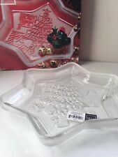 "Mikasa Crystal Tree Sweet Dish Christmas Star 9.25"" New In Box"