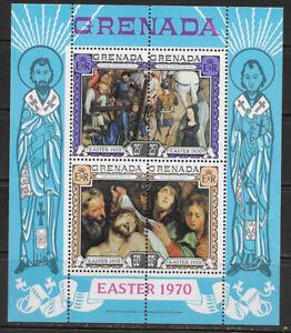 GRENADA , 1970 , EASTER , SOUVENIR SHEET PERF , MNH