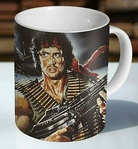 Rambo Sylvester Stallone First Blood Ceramic Coffee Mug - Cup