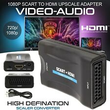 SCART To HDMI 1080P Video Audio Upscale Converter Adapter HD TV DVD SkyBox UK