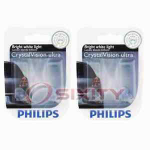 2 pc Philips License Plate Light Bulbs for Mazda 2 3 3 Sport 5 6 CX-3 CX-5 jv