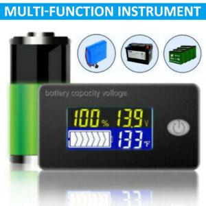 12V 24V 48V Battery Capacity Status LCD Digital Display Indicator Monitor Meter