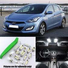 White 9pcs Interior LED Light Kit for 2013-2016 Hyundai i30 + Free Tool
