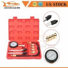 Engine Cylinder Pressure Tester Car Compression Gauge Test Kit US 8pcs