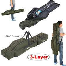 1.2/1.3/1.5M Portable Folding Fishing Rod Carrier Canvas Pole Tools Storage Bag