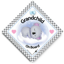 Grandchild Koala On Board Sign, Baby On Board Sign, Suction Cup Car Window Sign